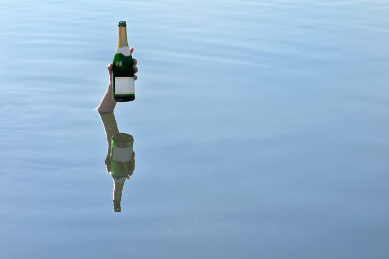 wijn onder water