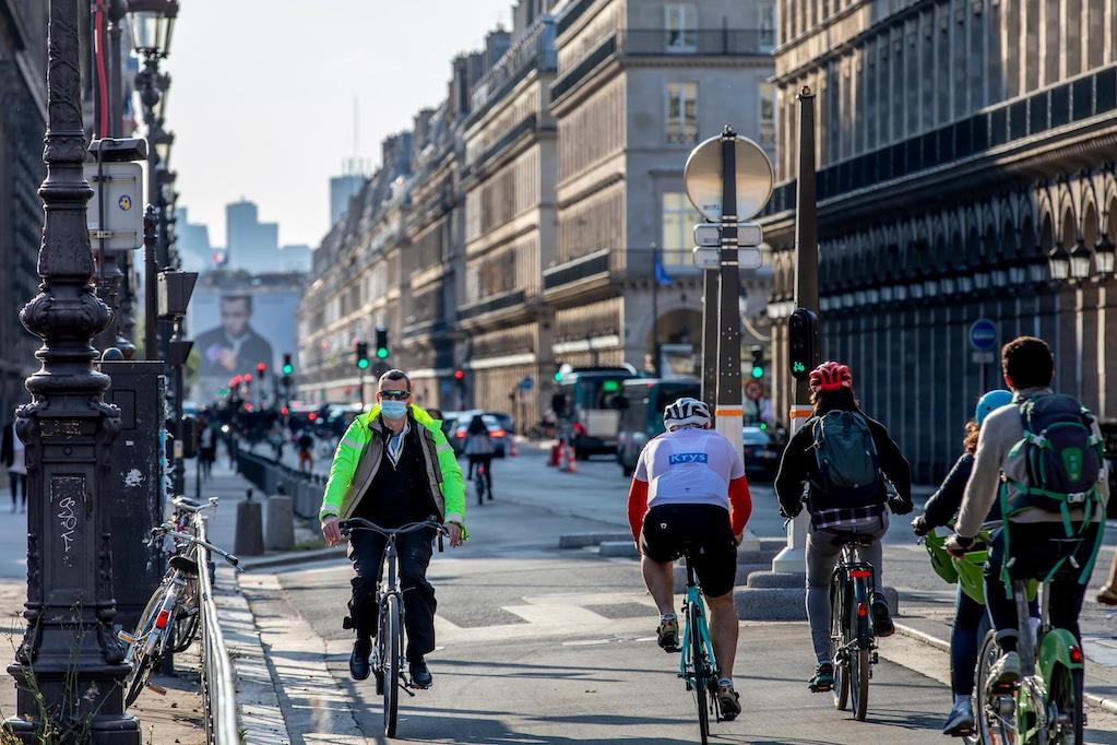 fransen op de fiets