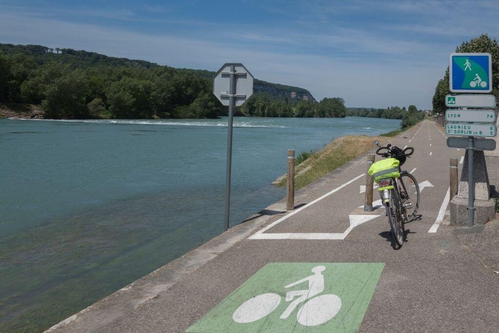 fietsen langs de rhone